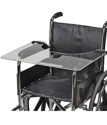Wheelchair accessories tray