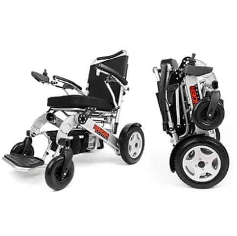 Heavy Duty Power wheelchair outdoors
