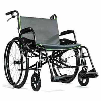 Heavy Duty Extra Wide Featherweight Wheelchair