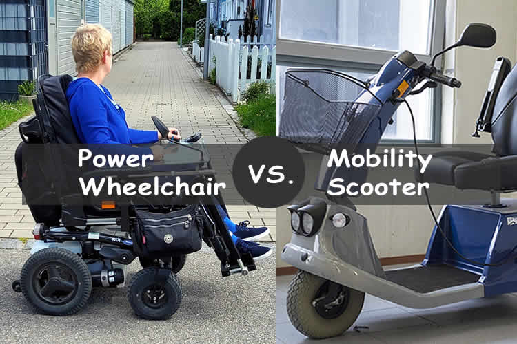 Power wheelchair vs mobility scooter